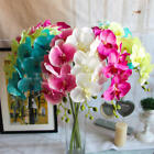 Artificial Butterfly Orchid Silk Flower Bouquet Phalaenopsis Party Room Decor