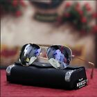 NEW MENS CLASSY AVIATOR SUNGLASSES BIKER DRIVING FASHION TRENDY SHADES MIRROR