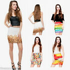 Gift Fashion Womens Oil Painting 3D Digital Print High Waist Skirt Retro