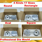 Button Maker Round Oval Square Rectangle 17 Die Moulds Badge Machine