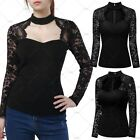 Ladies New Elegant Cocktail Evening Party Blouses Casual Wear Lace Floral Tops