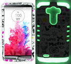 Cupcake Love Black w/ Glow in the Dark Rubber Cover Case for LG G3 Accessories