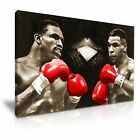 Mike Tyson vs Evander Holyfield Boxing Canvas Modern Home Office Wall Art Deco