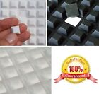 13mm x 13mm x 6mm Thick, 3M RUBBER FEET Stoppers, Sticky Squares, CLEAR or BLACK