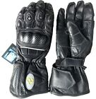 MOTORBIKE LEATHER BREATHABLE WARM LINED CE PROTECTORS MENS BIKERS GLOVES NEW
