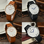 Womens Casual Lxury Stainless Steel Watch Genuine Leather Japan Quartz Watch