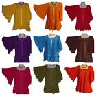 Assorted Colors Hippie Gauze Mexican Cotton Blouse 60's Retro Vintage Inspired