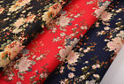 """1/2 YARD X 57"""" JAPANESE COTTON CALICO ORIENTAL FABRIC: CHINESE FLORAL POENY"""