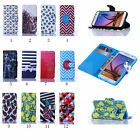 Flip Stand PU Leather Cards Holder Wallet Case Cover for Samsung Galaxy Phone