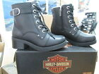 NEW Harley Davidson Womens Leather Boot Boots Shoes Medium Black Evie