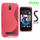 Shockproof S Line Wave Grip Silicone TPU Gel Case Cover Skin Pouch For HTC Model
