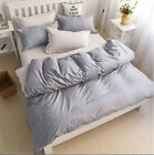 Gray Dots Single Double Super King Size Bed Pillowcase Quilt Duvet Cover Set