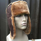 NEW FAUX FUR FLYING HELMET STYLE WINTER TRAPPER HAT 100% ACRYLIC & POLYESTER