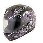 Scorpion Black EXO-R410 Orchid Motorcycle Helmet Snell DOT