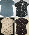 PRIMARK BLACK CHRISTMAS SNOWMAN / NAVY PUDDING XMAS NOVELTY SHIRT NEW UK M - XL