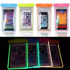 Luminous Glow Waterproof Underwater Pouch Bag Pack Dry Case Cover For Phone Pop