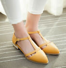 Fashion Womens Girls Lolita Casual Shoes T-strap Buckle Flat Mary Janes
