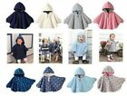 New Reversible Baby Girls Boys Poncho Cloaks Clothes Warm Jacket size 00,0,1,2