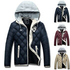 PJ Men's WINTER WARM Casual Cotton Padded Hooded Coat Outerwear Jackets STYLISH