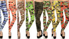 New Women's Camo Leggings Yoga Workout Pants OS S - L