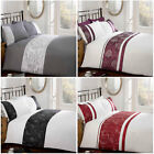 New & Stylish Embroidered Trim Floral Duvet Cover Bedding Set