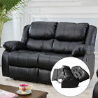 Black Motion Sofa Loveseat Recliner Living Room Bonded Leather Furniture