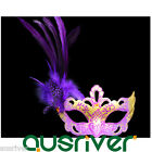 New Half Lace Feather Cosplay Party Mask Ball Masquerade Prop Halloween Princess