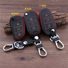 Handsewn leather car key cover protector for Citroen C4L C5 C3XR Elysee DS5 DS6