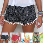 Fashion Womens Ladies High Waist Summer Casual Floral Beach Pants Shorts Popular