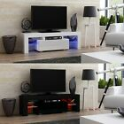 AVC TVS-4 130cm Modern TV Entertainment Cabinet Television Stand with LED Lights