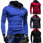 New Fashion Men's Slim Fit Sweater Hoodie Cardigan Jacket Pullover Coat Hooded