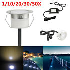 1/6/10/20/30/50pcs 1W 12V Cold White Outdoor Garden Stairs Path LED Deck Lights