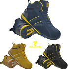 MENS WOMENS SAFETY STEEL TOE CAP TRAINERS LEATHER SUEDE LACE UP WORK BOOTS SHOES