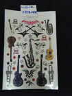 SHEET UNISEX BOYS MENS TEMPORARY TATTOOS MUSICAL INSTRUMENTS GUITAR SAXAPHONE UK