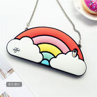 Cute rainbow Clouds Silicone Chain Strap soft Case Cover for iPhone 7 Plus 6 6S