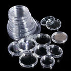 50pcs Boxed Coin Capsules Coin Case Transparent All Sizes Available 18mm to 50mm