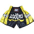 BLACK DUO 'CHOK DEE' KIDS & ADULTS MUAY THAI KICKBOXING SHORTS (XS - XL)