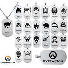 Hot Overwatch Whole 24 Heros Stainless Steel Necklace Pendant Fashion Jewelry