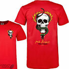 "POWELL PERALTA ""Mike McGill"" Skateboard T-Shirt RED Large L Tee Bones Brigade"