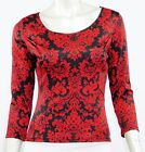 B. ENVIED USA CAREER CASUAL 3/4 SLEEVE STRETCH KNIT TOP CUT OUT BACK S M L