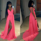 Fashion Sexy Women Chiffon Long Dress Floor Length  Bandage Backless Formal A