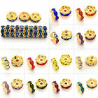100pcs Crystal Round Beads DIY Jewelry Making Gold Plated Wavy 5/6/8/10/12mm