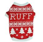 Christmas Xmas Dog Pet Clothes Red Tree Ruff Clothing Dog T-Shirts Apparel Santa