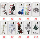 Fashion Shockproof Pattern Crystal Clear Soft TPU Rubber Case Cover For Samsung