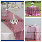 Blush Pink Sequin Tablecloth For Wedding/Event Decor/Party Home Garden Tables
