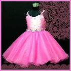 U Pinks Christening Communion Christmas Party Flower Girls Dresses SIZE 2 to 12Y