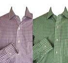 Brooks Brothers Shirt 15-2/3 Purple or Green Check Slim Fit All Cotton