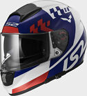 LS2 FF397 Vector Podium Full Face Motorcycle Helmet White/Red/Blue
