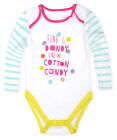 Girls Cotton Rich Long Sleeved Baby Grow New Kids All In One Tiny Baby- 12 Mnth