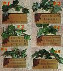 "WINE WOMEN WISDOM SIGNS WOOD w/ GRAPE LEAVES CHOICE of 6 Sayings 6.5"" x 8.5"""
